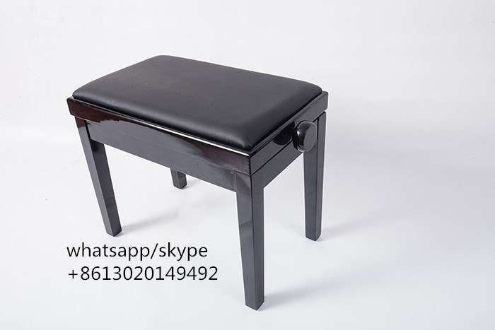 Sensational Hot Item Black Adjustable Single Piano Stool With Solid Wood And Leather Machost Co Dining Chair Design Ideas Machostcouk