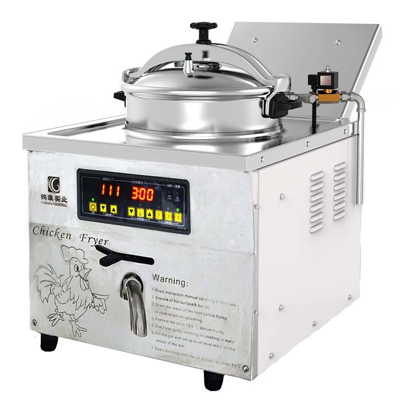China 16 Litres For Home Small Shop Use Table Top Chicken Pressure Fryer China Pressure Fryer And Broasted Chicken Machine Price