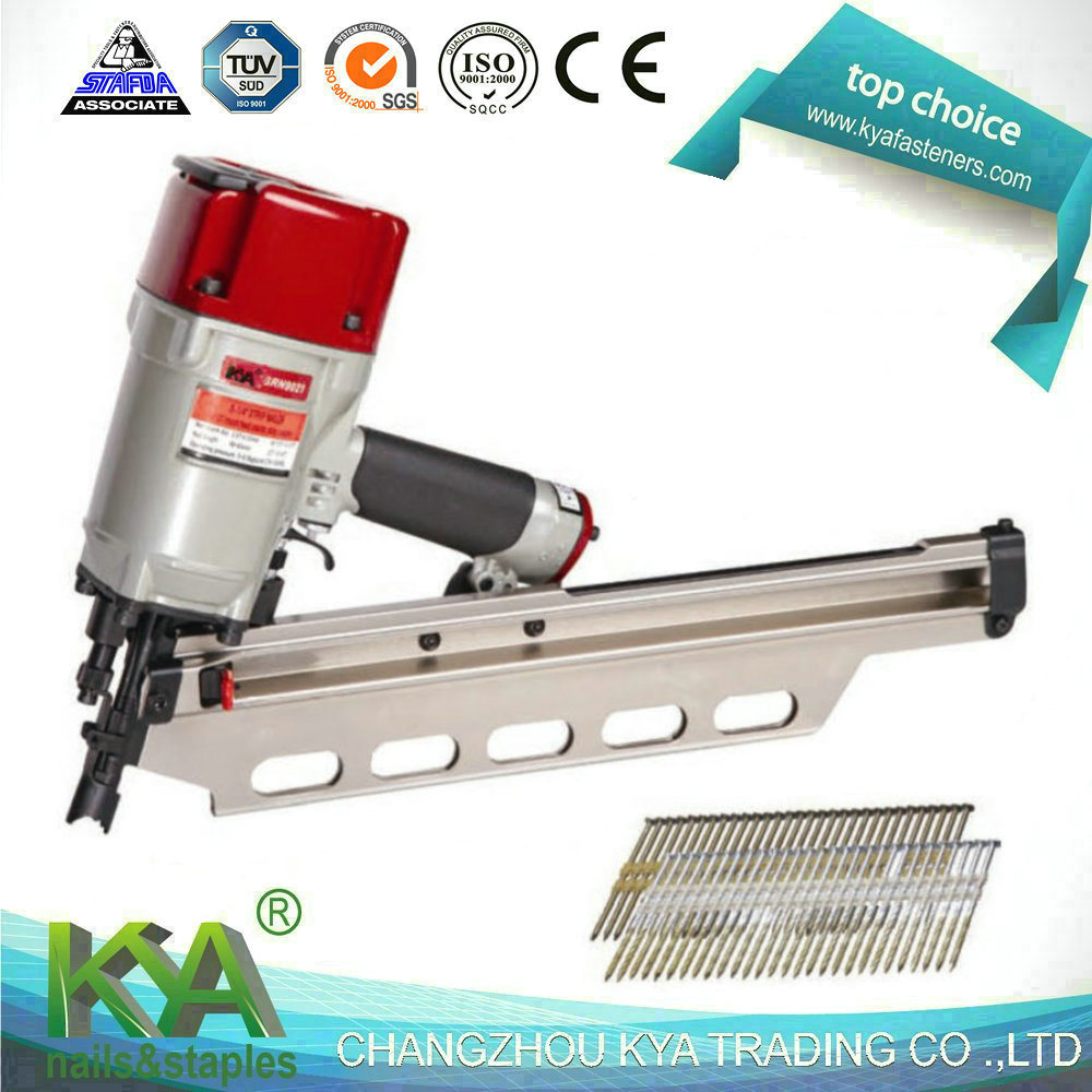 China (SRN9021) Pneumatic Framing Nailer for 21 Degree Plastic ...