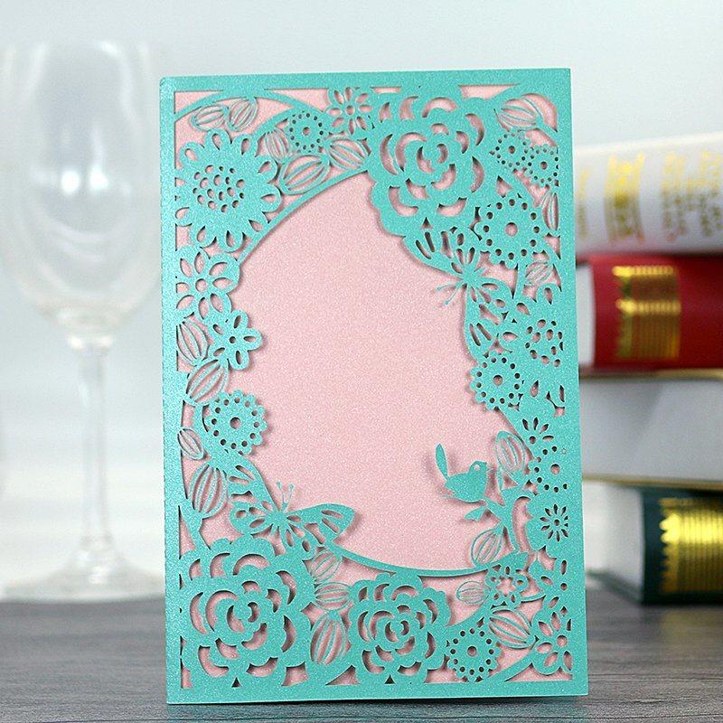 china laser engraving paper greeting card invitation card printing