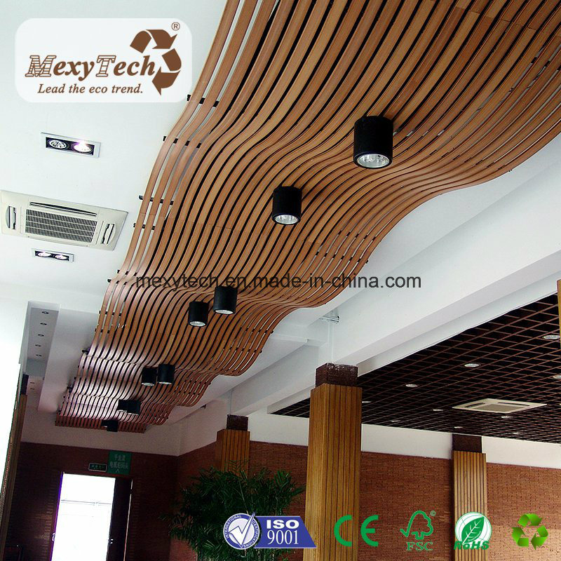 Light Weight Real Wood Suspended WPC Ceiling