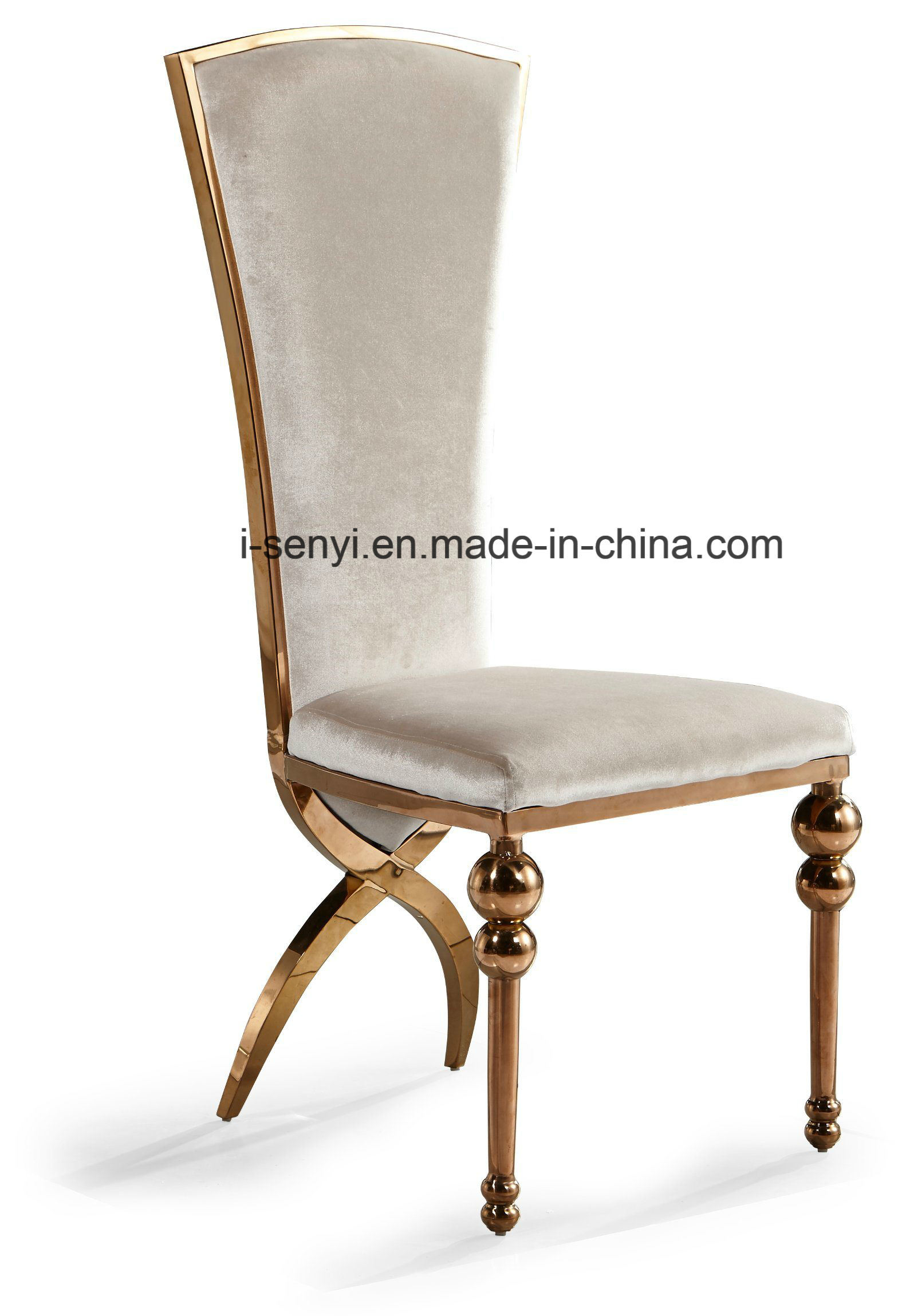 [Hot Item] Gold Plated Hotel Chair Banquet Chair Wedding Chair Stainless  Steel Chair Dining Chair