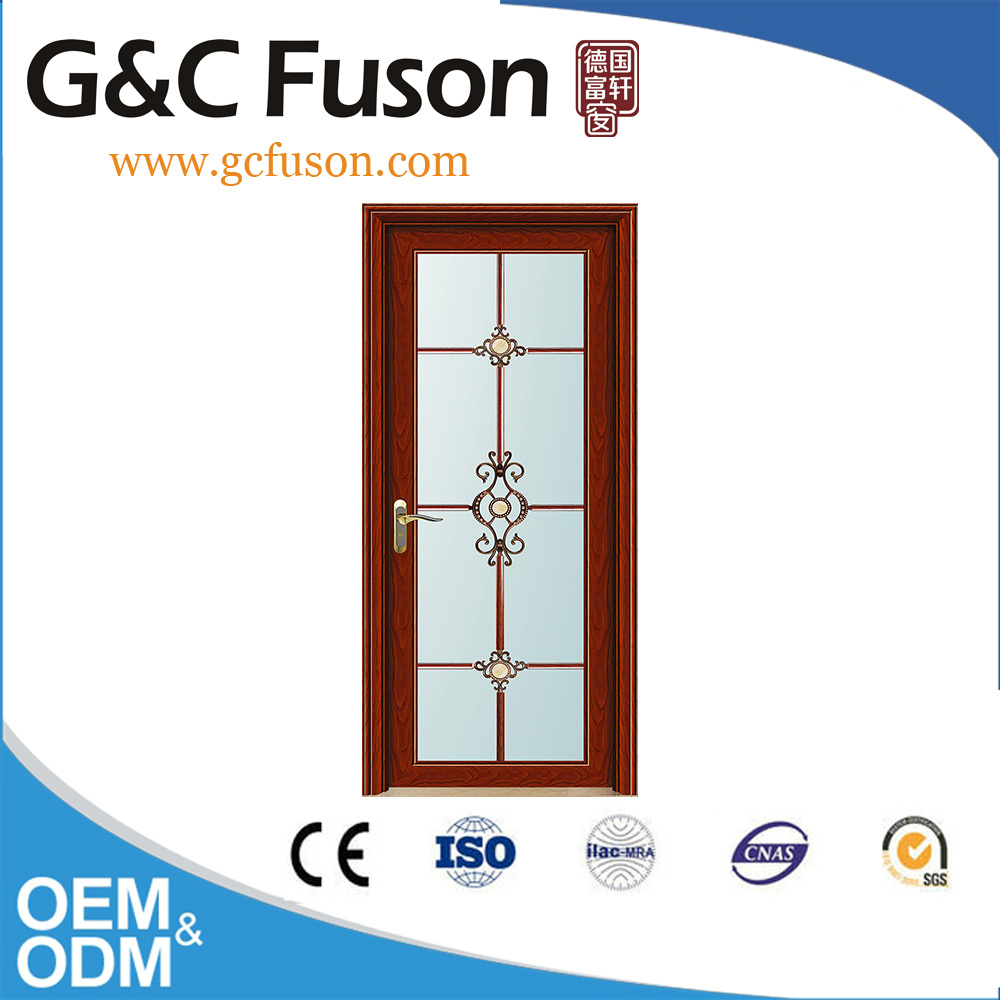 China Well Design Wooden Color Aluminum Bathroom Door Photos ...