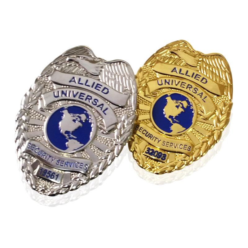 China Metal Badge With Customer Logos For Police Badge Use Photos