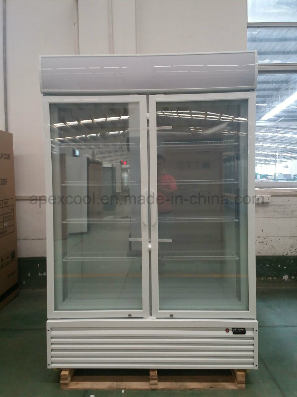China 1200l Three Glass Door Ice Cream Display Freezers Photos