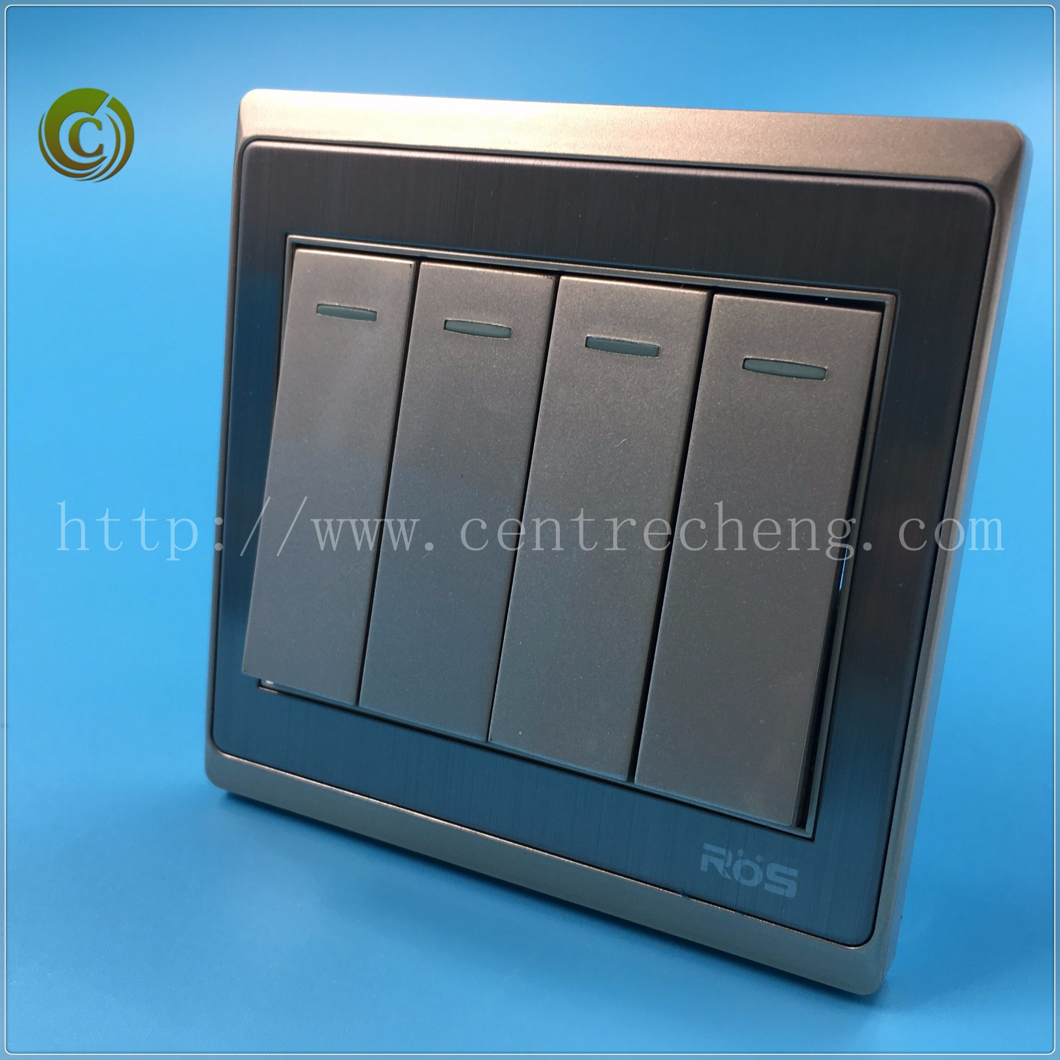 China 2018 High Quality 10a 4 Gang 1 Way 2 Plate Electric Wall Switch For Light