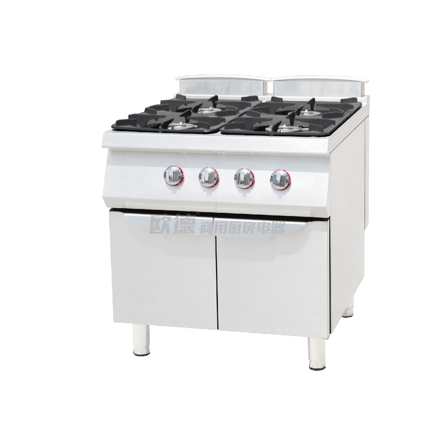 China Gas Range with 4-Burner & Oven, Industrial Gas Cooking Range ...