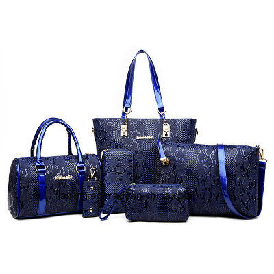 2018 Wholesale Women Bag 6pieces Set Leather Ladies Bags Handbag 9c862cf19c204
