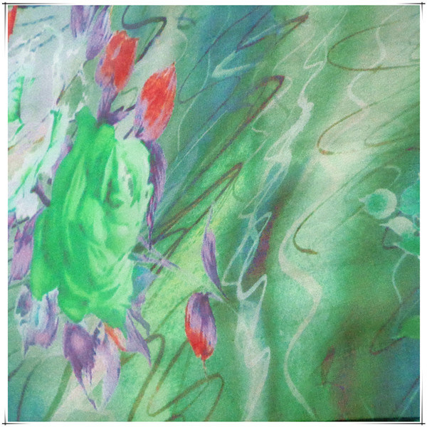 Pure Silk Chiffon Fabric for Printed