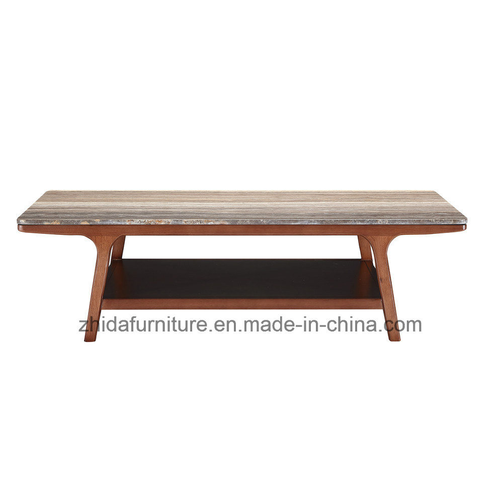 Best Er Modern Square Central Marble Top Coffee Table
