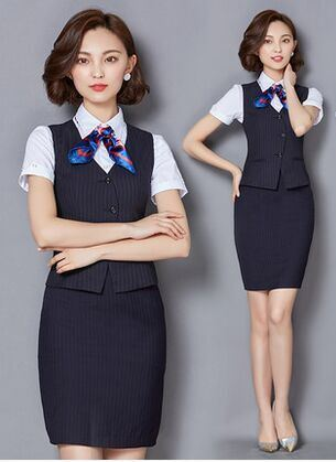 China The Latest Summer Hotel Front Desk, Stewardess Uniforms   China  Formal, Slim Fit
