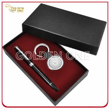 Laser Engraving Logo Metal Key Chain & Pen Gift Set (GS02)