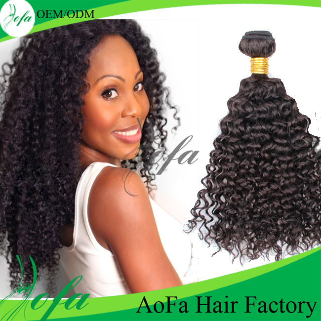 China Top Quality Kinky Curly Vigin Remy Hair Human Hair Extension