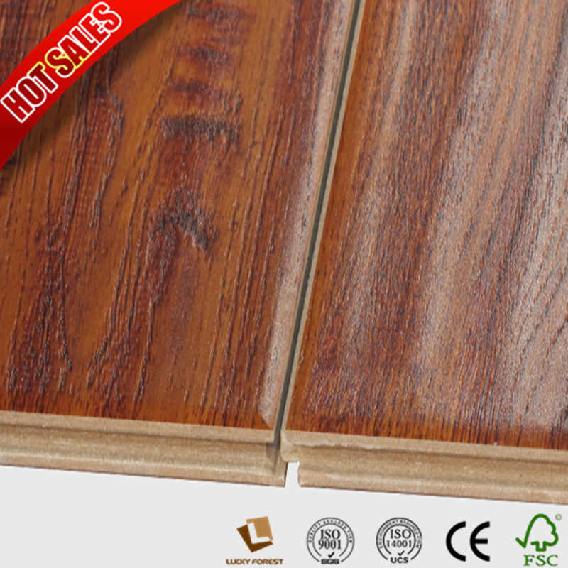 China Swiftlock Handsed Hickory Laminate Flooring Hdf Oak Wood Hardwood Building Material