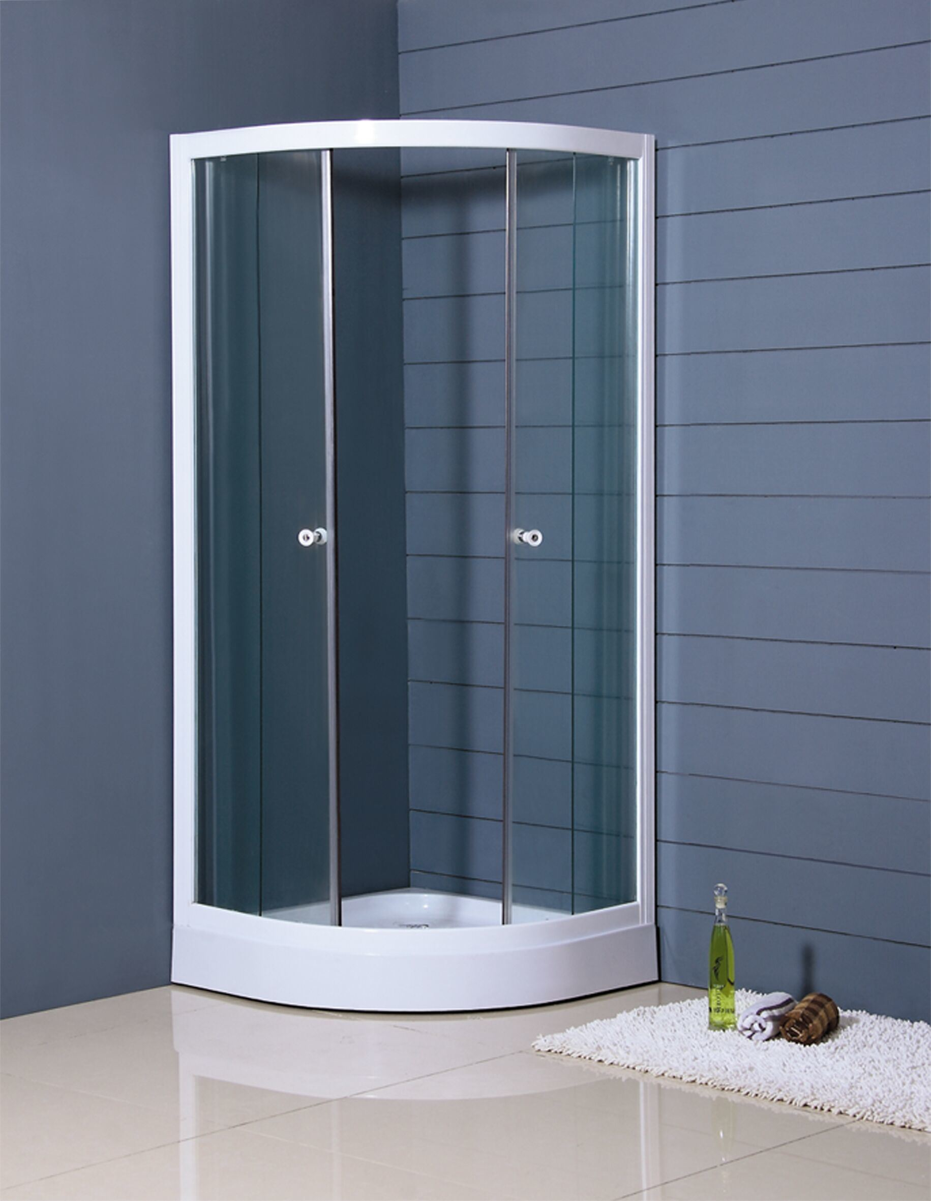 China Shower Enclosure with Tray and Slid Door 80X80cm or 90X90cm ...