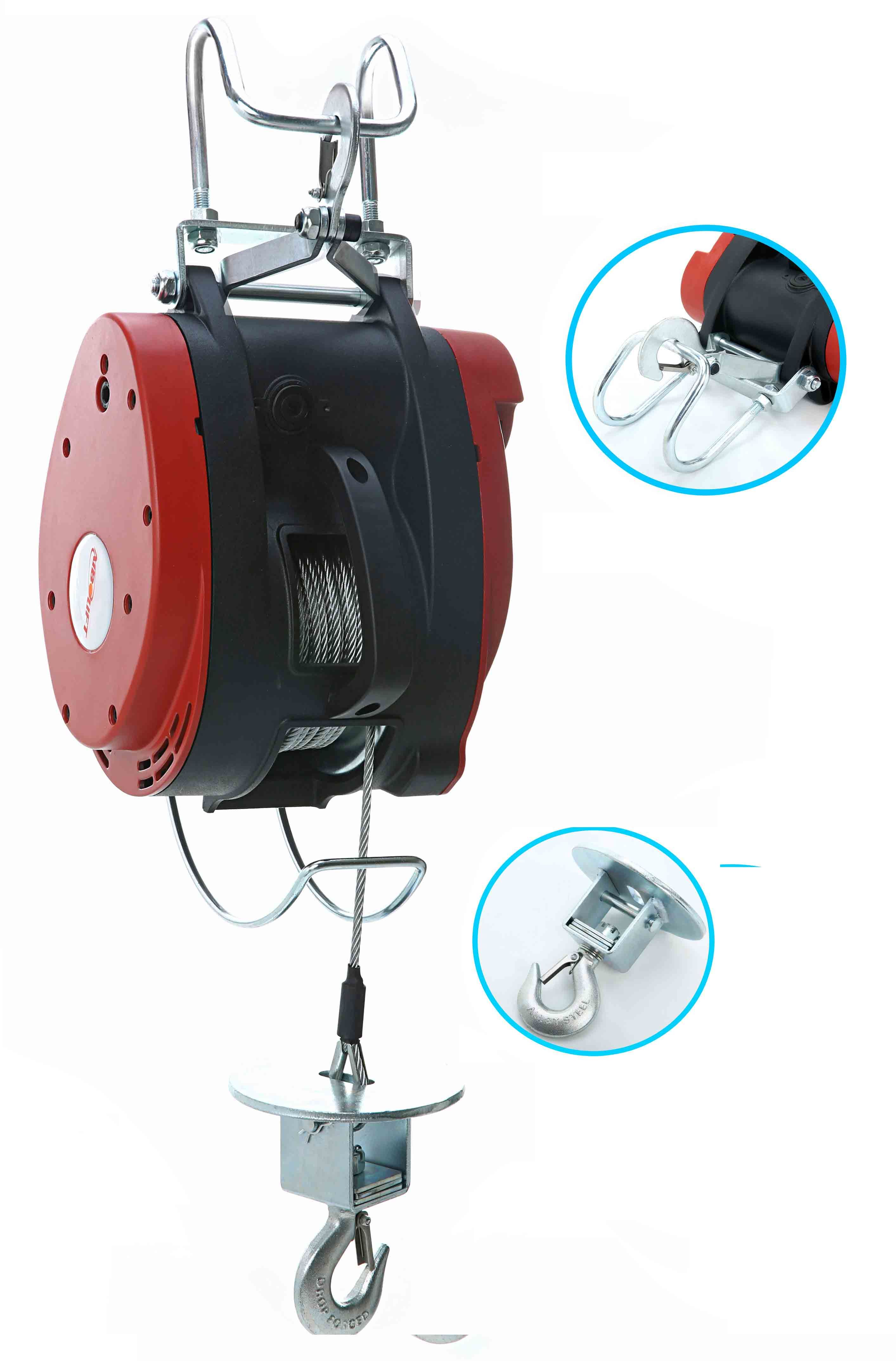 China 250A Electric Mini Wire Rope Winch Electric Wire Rope Pulley ...