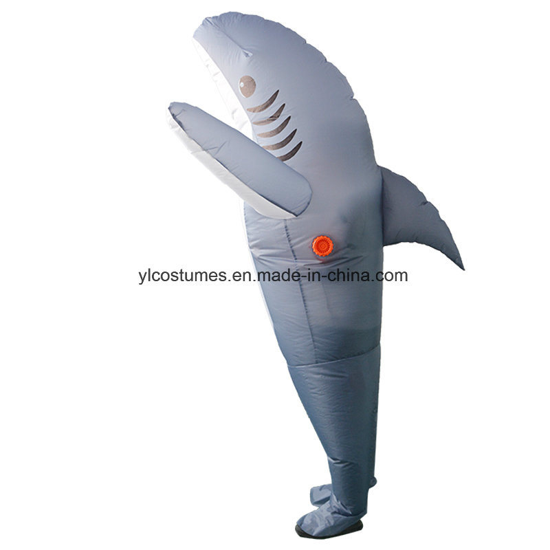 Cartoon Animal Mascot Garment Inflatable Grey Shark Costume for Adults  sc 1 st  Yiwu Yelong Costumes Factory & China Cartoon Animal Mascot Garment Inflatable Grey Shark Costume ...