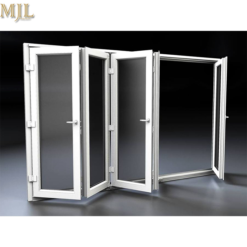 China Competitive Price Aluminum Wooden Folding Patio Doors For