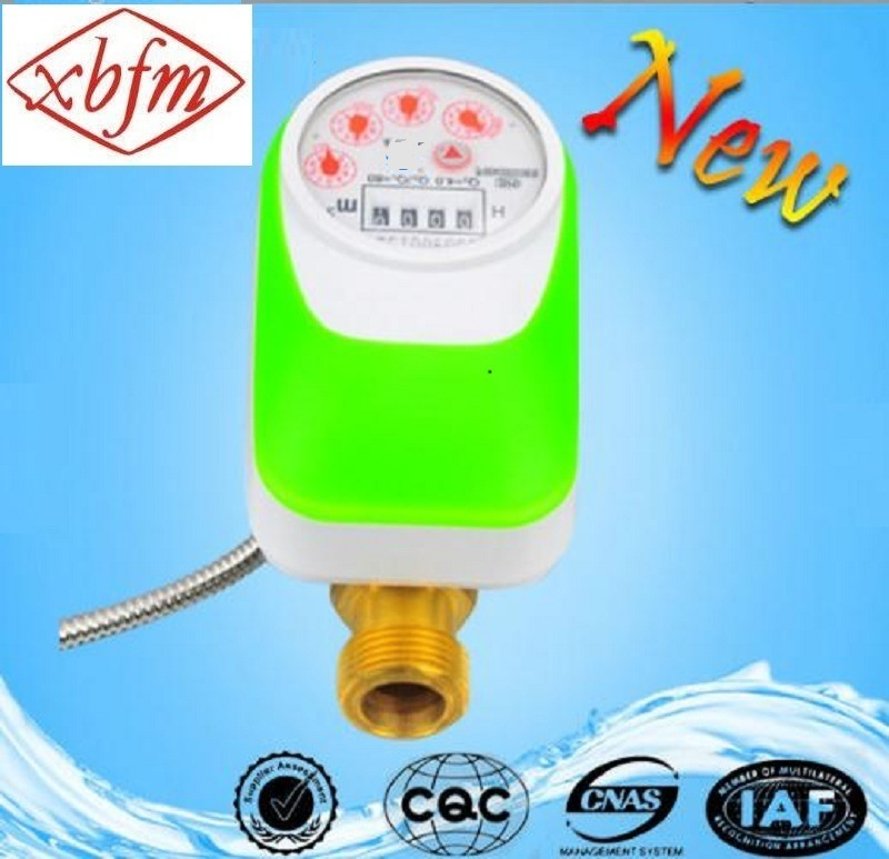 Direct Reading Electronic Valve Control Water Meter (Green Color) pictures & photos