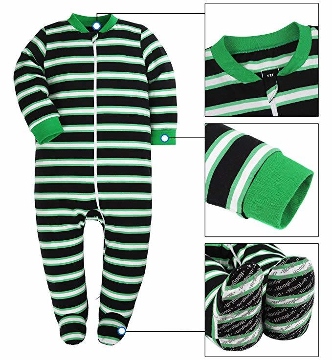 6cc4a49df China Baby Cotton Stripe Pajamas Baby Girls and Boys Winter Warm Long Sleeve  Children Baby Clothes - China Children Clothes, Baby Apparel