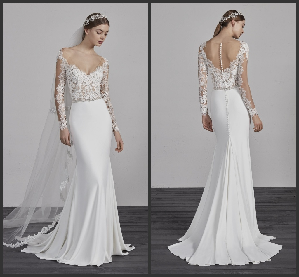 39744d6819 China Mermaid Boho Beach Bridal Gowns Long Sleeves Spandex Jersey Lace  Wedding Dresses Z8015 - China Wedding Dress