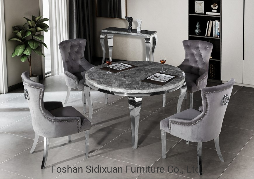 China Modern Dining Room Furniture, Modern Round Dining Table Set