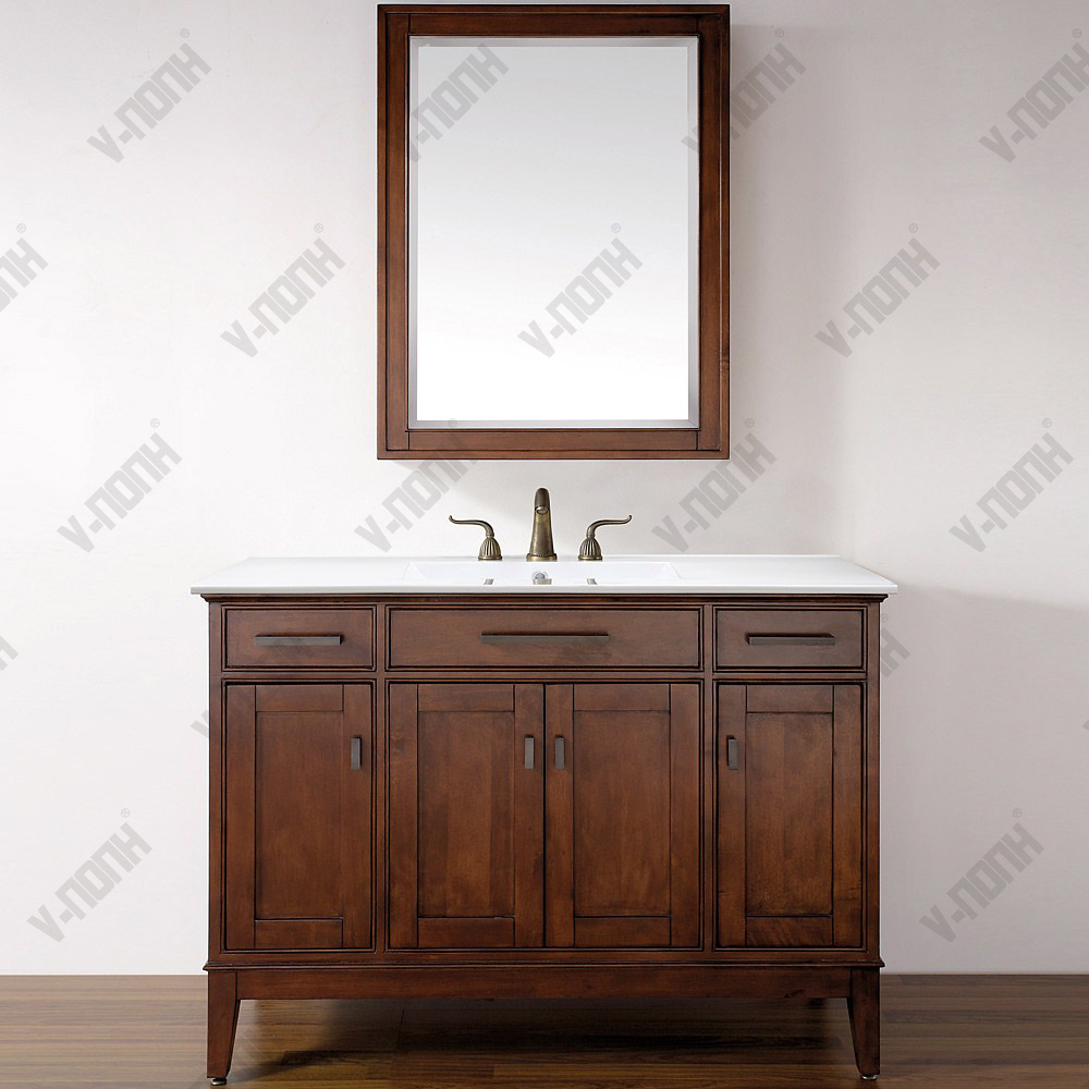 China 48inch Solid Wood Bathroom Vanity
