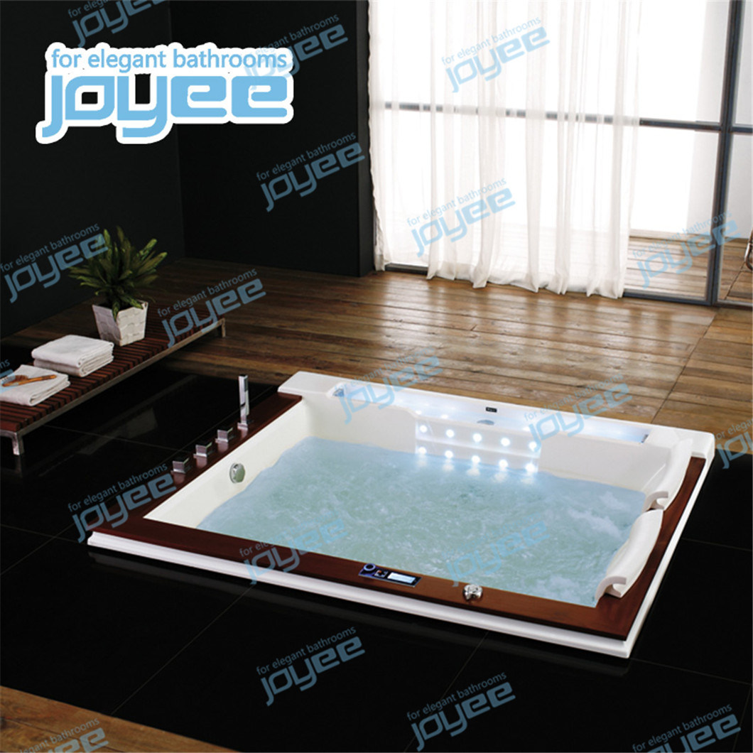 Hot Item Joyee Customized Drop In 2 Person Whirlpool Acrylic Shower Tub
