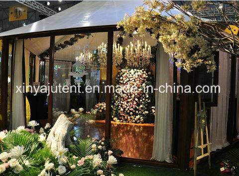 China Garden Tent with Glass Walls Frame Safari Tent for Glamping ...