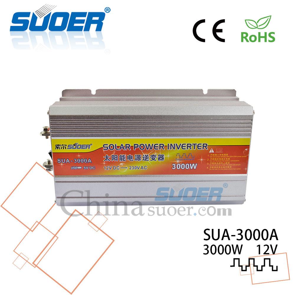 China Suoer 12v 220v Power Inverter 3000w Off Gird Solar Ac Circuit 12 Volt For Soldering Iron Portable Sua 3000a