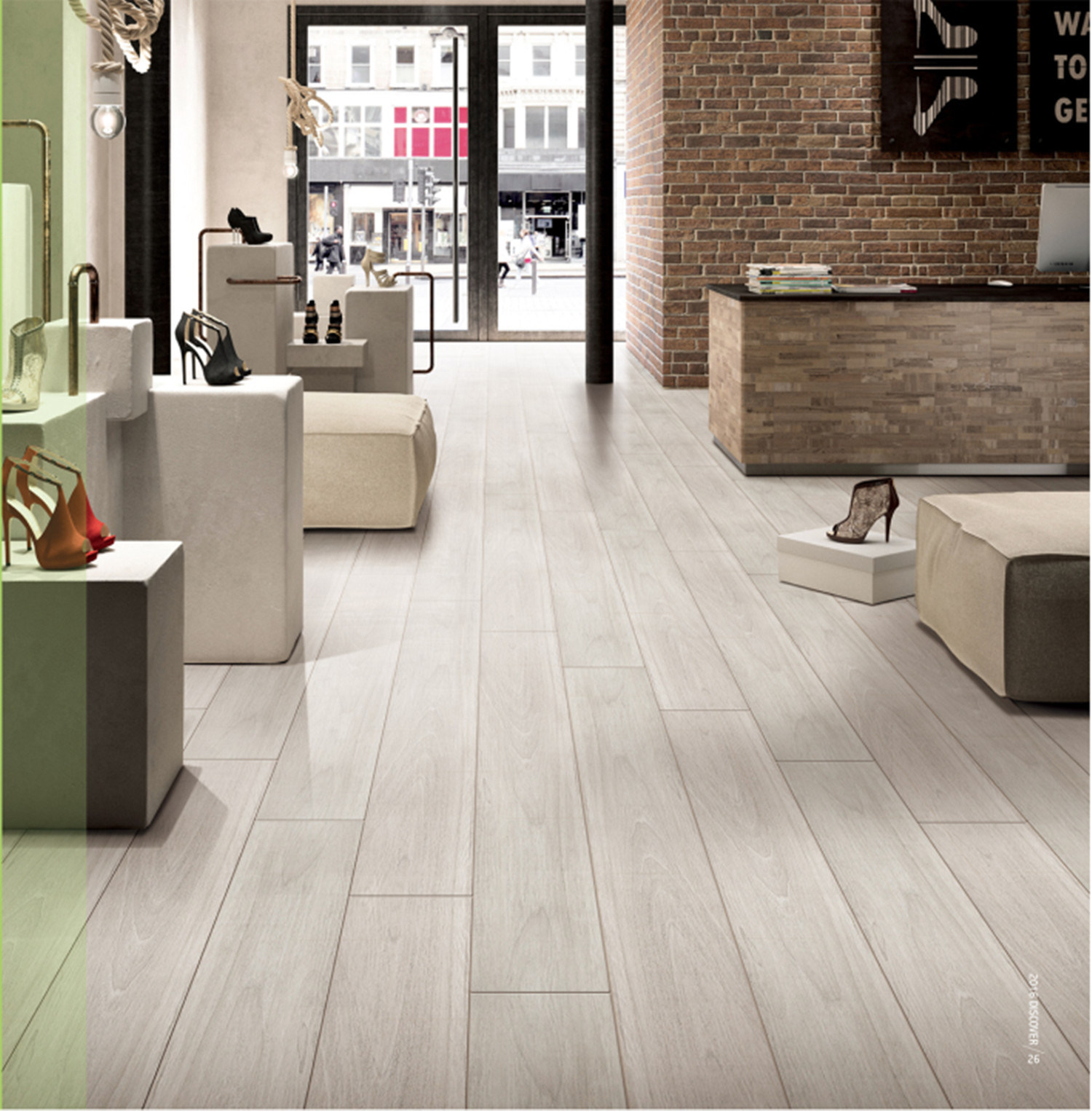 China New Timber Wood Glazed Porcelain Tile for Wall and Floor LF01