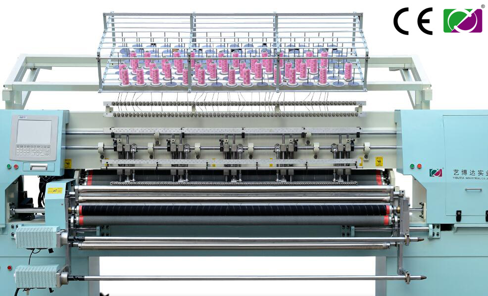 Quilted Cover Production Line Multi Head Shuttle Quilting Machine pictures & photos