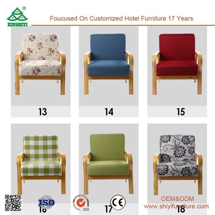 Comfortable Single Sofa Chair, Sturdy Wood Frame Single Seater Sofa Chairs