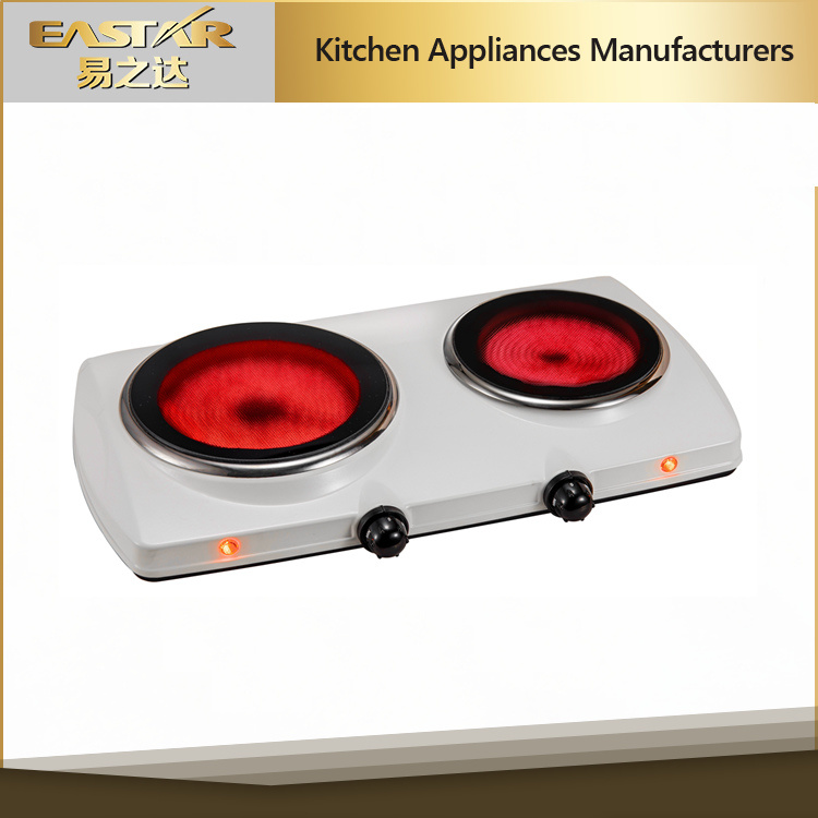 Double Burner Glass Ceramic Stove Infrared Cooker
