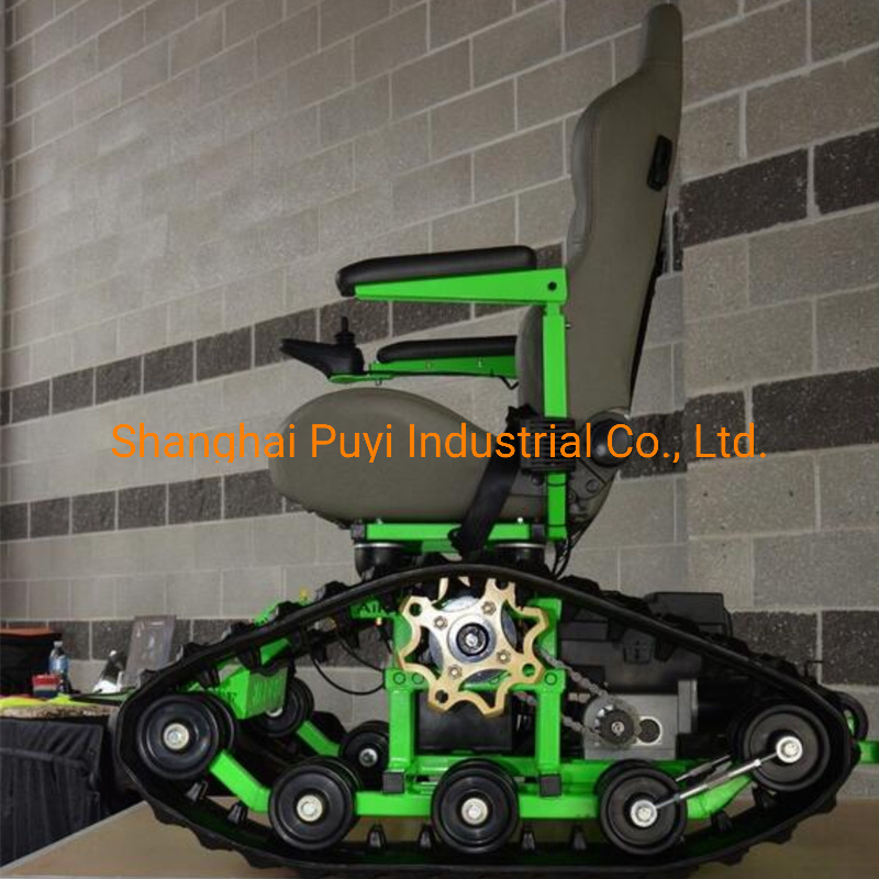 Small Rubber Track System for Green Wheelchair Zyw-130 pictures & photos