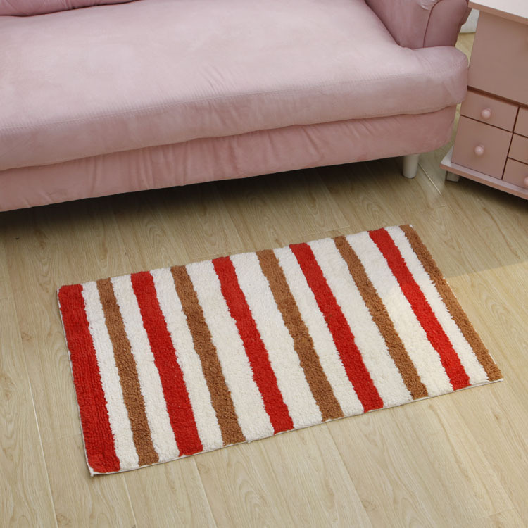 Hot Item Anti Slip Home Cotton Bath Mat Rug With Latex Backing Cot0090
