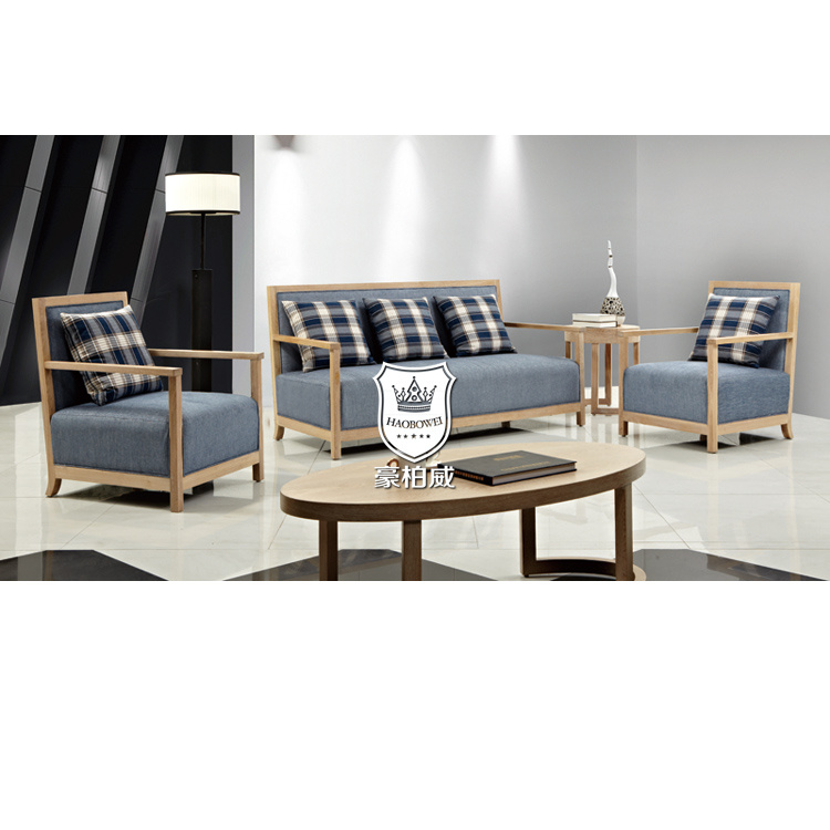 Modern Wooden Sofa: China Modern Wooden Sofa Set Designs In Oak Finish For