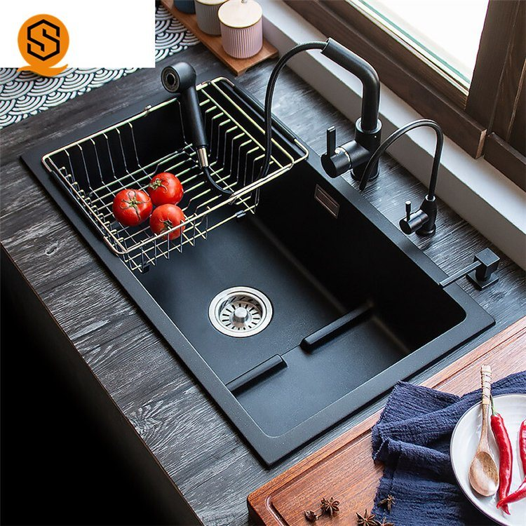 [Hot Item] China Supplier Oil Resistance Composite Stone Sink Granite  Kitchen Sinks