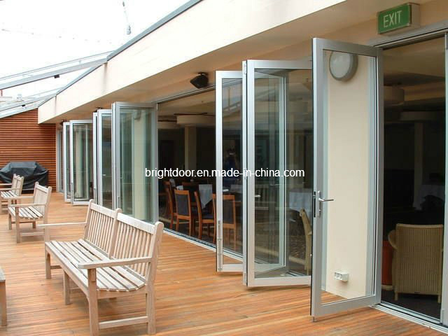 Triple Glazed Exterior Bi Folding Doors for Commercial