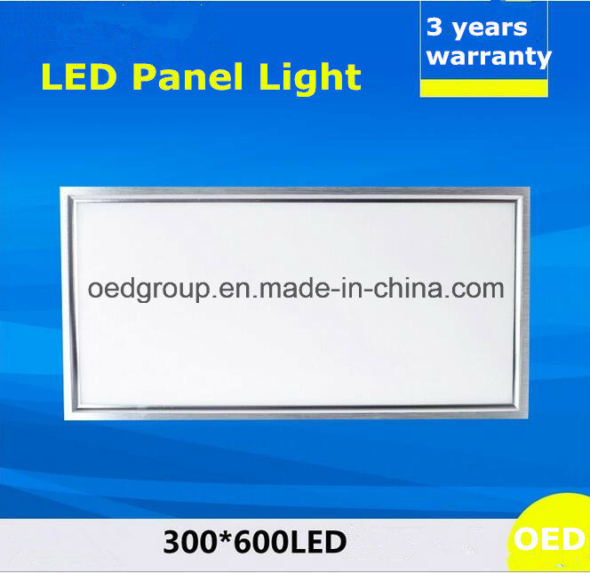 40W 300*600 LED Panel Light with Ce RoHS 3years Warranty