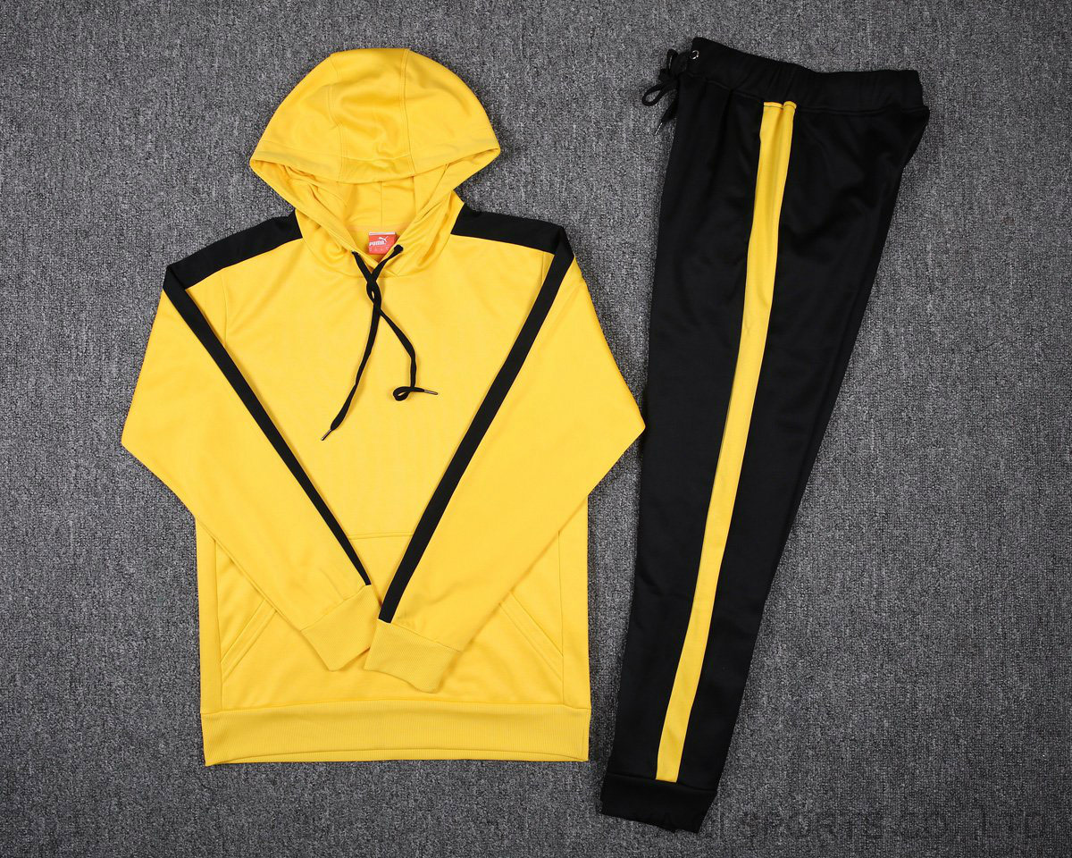 low cost size 7 great deals 2017 [Hot Item] Warm UPS Sublimation Custom Yellow Black Tracksuits