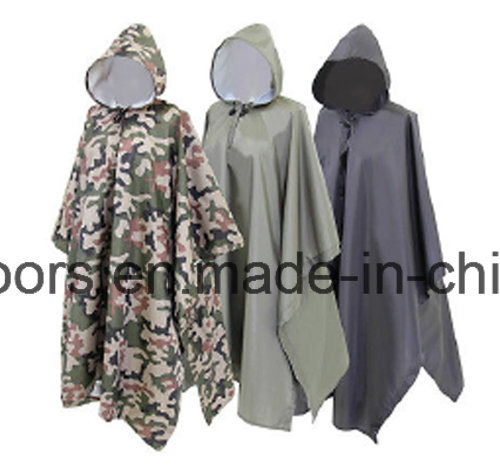 Polyester Large Sleeve Outdoor Fishing Poncho Raincoat pictures & photos