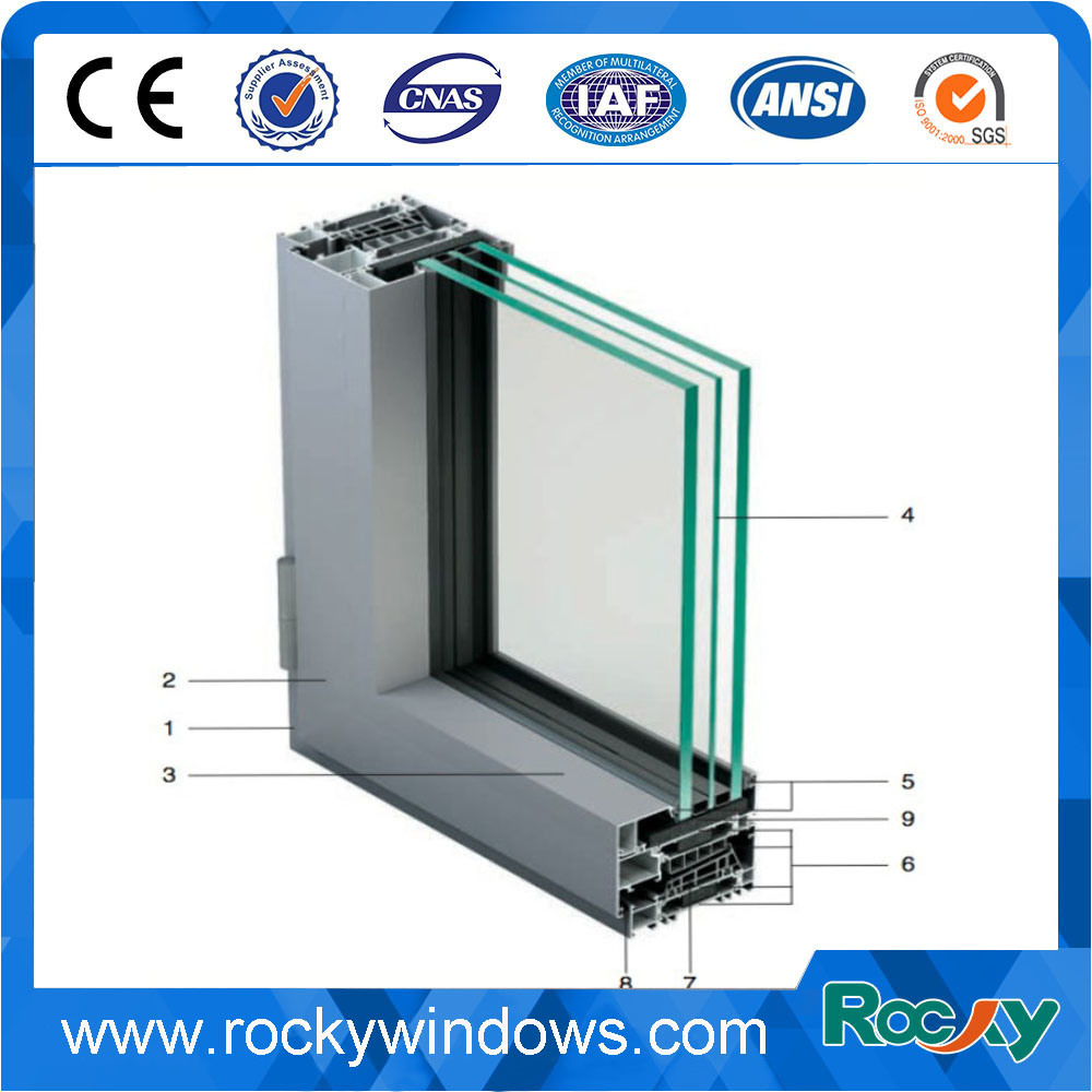 China Easy Cleaning Waterproof Window Frame Aluminium Profile ...