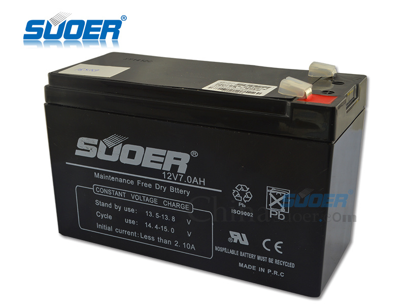 Suoer Hot Maintenance Free Battery 12V 7ah Storage Battery (12V7AH) pictures & photos