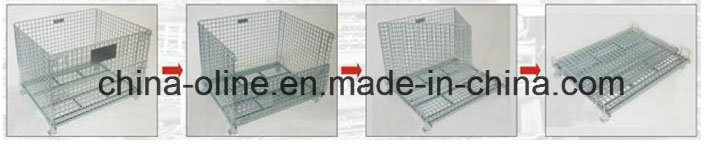 Euro Storage Metal Wire Mesh Container pictures & photos