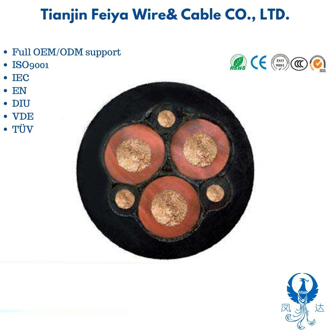 Nsshou -Tinned Copper Conductor Cross-Linked Epr Pcp 5GM5 5GM3 Rubber Sheathed Mining Cable pictures & photos