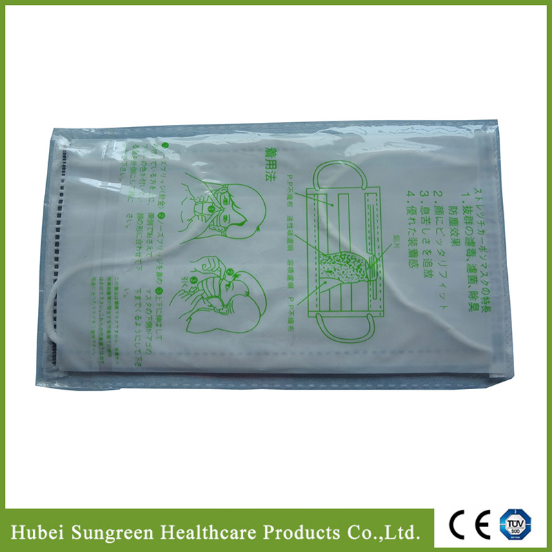 Activated Carbon Face Mask, Non-Woven Face Mask