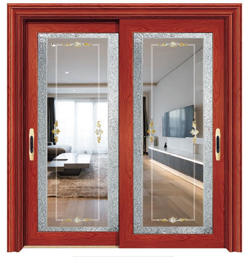 China Energy Saving Aluminum Horizontal Sliding Glass Door With Fly