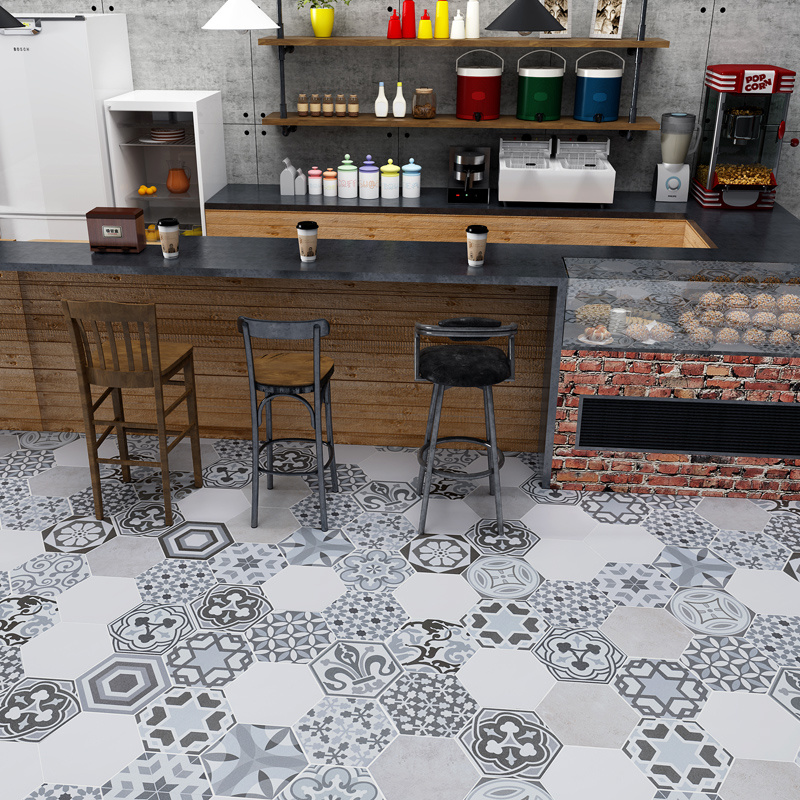 China Hexagonal Cement Tile Handmade Ceramic Tile Matt Handcraft