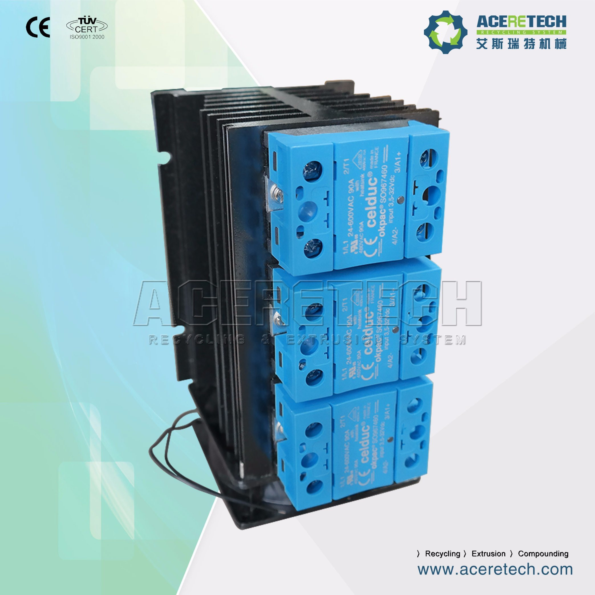 China Solid State Relay For Plastic Recycling Machine Electric Celduc Cabinet Pelletizing Line